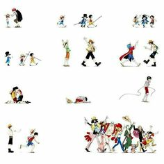 Straw Hat Crew, Mugiwara, Luffy, Sanji, Zoro, Chopper, Usopp, Brook, Franky, Nami, Robin, different ages, time lapse, young, childhood, sad, Ace, Sabo, brothers, timeline, Shanks, crying; One Piece