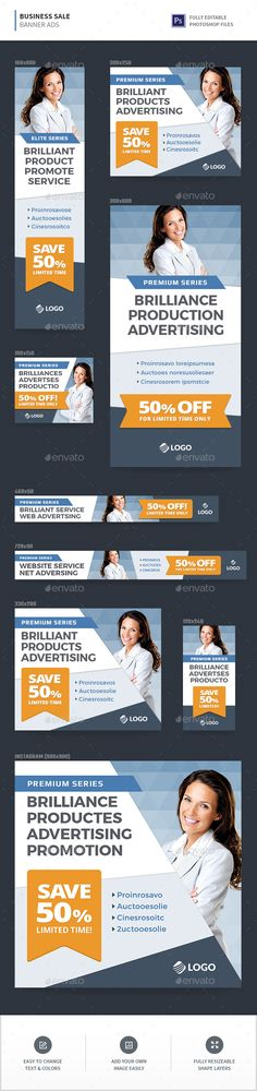Buy Business Sale Banners by InfiniWeb on GraphicRiver. Business Sale Web Advertisement Banners Web banner ad templates in 9 most popular sizes! Business Sales, Buy Business, Web Design Tutorial, Website Promotion, Advertising And Promotion, Web Advertisement, Ads, Sale Banner, Banner Template