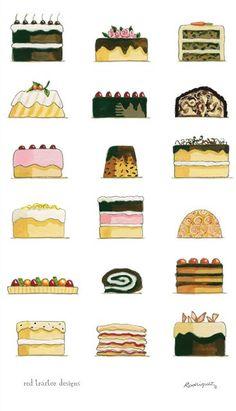 'The Cake Show' toalha de chá