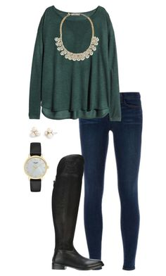 Christmas Eve! by morganhaley45 on Polyvore featuring polyvore, fashion, style, H&M, J Brand, Tory Burch, Kate Spade, Forever 21, J.Crew and clothing