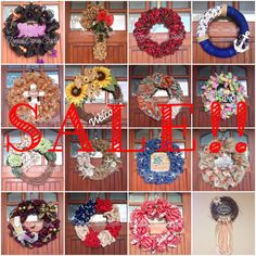 All these wreaths are $29.99 or less!! Winter sale starts now!!!