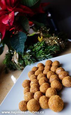 Christmas Sweets, Christmas Cookies, Czech Recipes, Healthy Treats, No Bake Desserts, Raw Vegan, Healthy Cooking, Almond, Low Carb