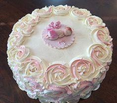 Ristiäiskakku tytölle / Christening cake girl