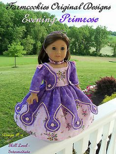 Sewing Pattern for American Girl Doll / EVENING PRIMROSE Historical 1800s Gown