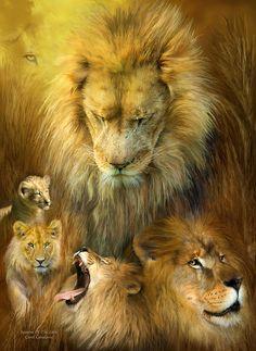 Seasons Of The Lion Mixed Media - Seasons Of The Lion Fine Art Print