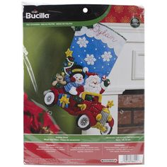 Holiday Drive Stocking Felt Applique Kit-18 Inch Long 046109864518 #Bucilla