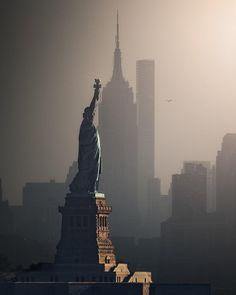 Statue de la liberté Landmark unique Carte 2D Parti Demi Visage Masque-New York USA
