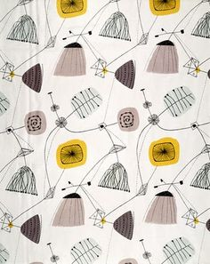 Lucienne Day - postwar textiles / tapestries - optimistic abstract patterns ...