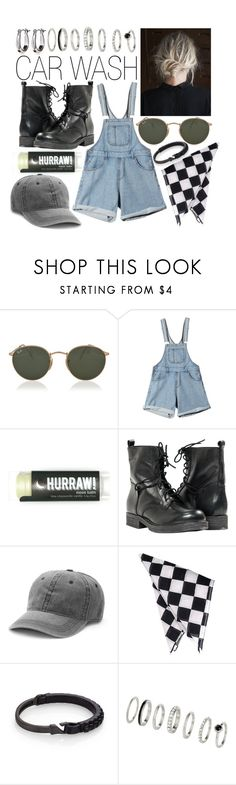 """Car Wash"" by leonorgomes on Polyvore featuring Ray-Ban, Reebok, Paolo Shoes, Mudd, MIANSAI, H&M and Kim Rogers"