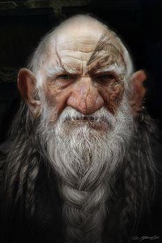 Snow White and the Huntsman: Dwarf Concept Art, Jerad Marantz Fantasy Dwarf, Fantasy Rpg, Medieval Fantasy, Game Character Design, Character Art, Facial Expressions Drawing, Old Man Face, Viking Character, Pulp