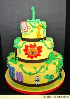 Jungle Bday Cake Hudson Cakery