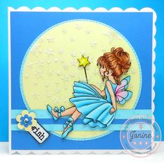 My Sugar Nellie DT card 'Make A Wish' and coloured with Copics. Digi stamp is available to buy from www.funkykits.co.uk.
