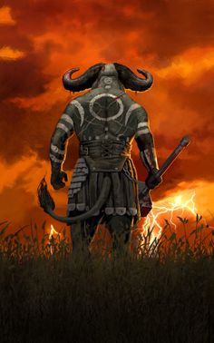 #WarIsComing by John Connell (nightrhino) | #Fantasy #Minotaur #Creature #Tauren #Warrior