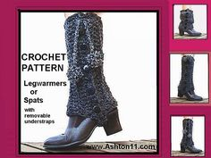 Ravelry: Spats or Leg Warmers | Crochet Pattern by Ashton11 pattern by Ashton E Leven  Awesome, stylish spats, or legwarmers.  This is a fashion accessory not to be missed.  Great for wearing with a skirt.  Crochet pattern by Ashton11