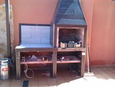 Hacer Barbacoa de obra | Bricolaje Argentine Grill, Outdoor Bbq Kitchen, Brick Bbq, Four A Pizza, Garden Doors, Barbecue Grill, Home Hacks, Backyard Patio, Design