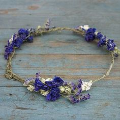 Provence Dried Flower Hair Circlet - wedding fashion £24 from not on the highstreet
