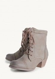 Adele Lace-up Ankle Boots by ShopRuche
