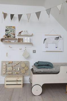 My Muro on Kickstarter | Uberkid natural kids room rafa bed shelves bunting ooh noo bedding