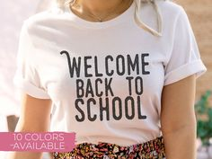 Welcome Back To School, Going Back To School, School Staff, I School, School Shirts, Teacher Shirts, Teacher Resources, T Shirt, V Neck
