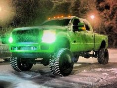 Lifted Ford superduty truck