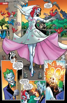 Harley in her wedding dress. I love how she kinda just became a Disney princess with all of the birds and mice and little animals __________CCLXXXV __________