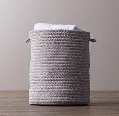 Braided Wool Hamper