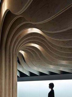 Modern curvy ceiling design  #HomeandGarden