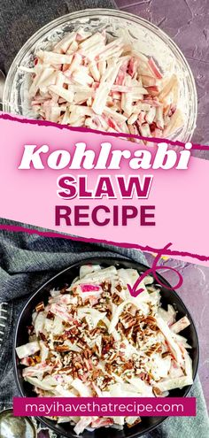 This satisfying Kohlrabi Slaw Recipe is filled with apples and carrots and has a cashew cream sauce. Take it with you to the next potluck!