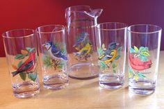 Vintage West Virginia Glass American Songbirds by retrowarehouse