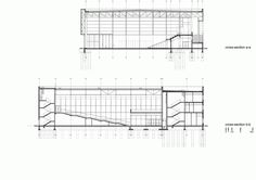 Image 22 of 24 from gallery of Sports And Show Hall Na Skarpie / Maćków Pracownia Projektowa. Floor Plan Drawing, Sport Hall, Interior Exterior, Floor Plans, How To Plan, Architecture, Gallery, Layouts, Buildings