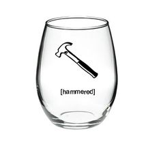 Cute hammer HAMMERED 15 or 21 oz stemless by DanniBeCollection