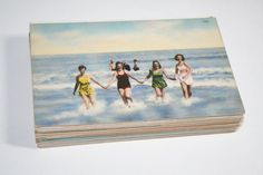 Beach Wedding! Vintage Beach themed Postcards - great for wedding guestbooks, save the dates, or sending mail.  Bursts of Creativity Etsy Shop - 75 for $56.25