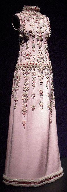 1960S Roberto Capucci - Haute Couture - Robe de Soirée - Broderies de Perles