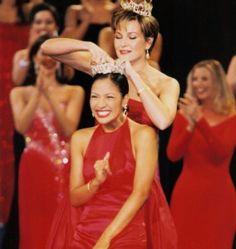 Miss America 2001 - Angela Perez Baraquio (HI) The first teacher to become Miss America!