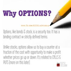 OPTION allows us investment opportunity at fraction of the cost and potential returns in UP or DOWN markets (terms & condition apply)