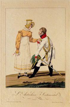 L ' Autrichien Sentimental  Gestochen von / Engraved by: FINART Künstler / Artist:  BLANCHARD Fils ainé Erschienen bei / Published by : Basset, Paris 1815