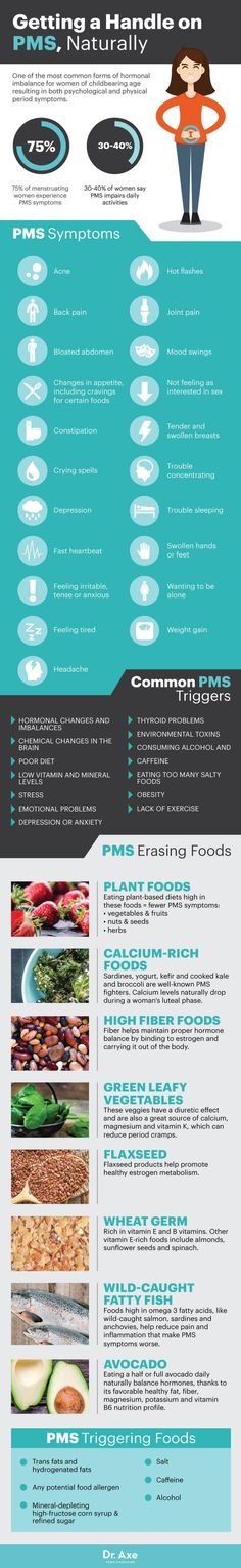 PMS symptoms - Dr. Axe http://www.DrAxe.com #health #holistic #natural