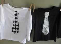 Tie shirts -- totally doing this one a couple of the boy's onesies!