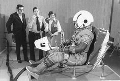 Came across this old school cool at the Museum of Flight in Seattle: Space suit engineers in 1972 : OldSchoolCool