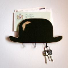 bowler hat key hook