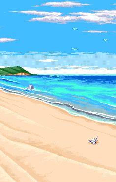 noirlac #pixelart #beach