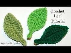 HOW TO CROCHET TWO SIDE LEAF WITH CHAIN SPACES IN THE MIDDLE TUTORIAL 1 - VEA MAS VIDEOS DE HACER FLORES GANCHILLO   HACER FLORES GANCHILLO   TVPlayVideos - Reproduce videos restringidos de YouTube