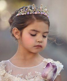 Trish Scully Child Purple   Pink Rose Tiara - Toddler 905ad9d36ad6