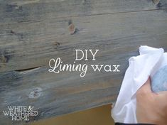 DIY Easy Liming Wax Recipe & Tutorial - Ever wanted to get that whitewash liming look over a piece but don't have any liming wax on hand? Here is a simple way t… Furniture Wax, Furniture Makeover, Restoring Furniture, Furniture Refinishing, Liming Wax, Do It Yourself Furniture, Annie Sloan Paints, Wood Projects, Woodworking Projects