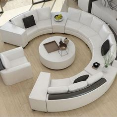 Explore the Most Beautiful Contemporary Curved Sofa Design Ideas at Live Enhanced. Visit for more images and take some ideas about Curved Sofa Designs. Gebogenes Sofa, Sofa Furniture, Living Room Furniture, Modern Furniture, Rustic Furniture, Antique Furniture, Outdoor Furniture, Lounge Sofa, Furniture Storage