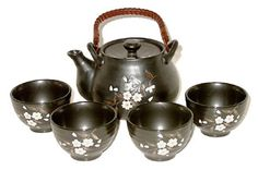 Cherry Blossom Japanese Tea Set - I would have to indulge my passion for tea sets in my dream home, and this set would be essential to my collection.