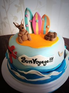Bon voyage - make with playdough? so cute but I'm not a fan of that plastic-tasting fondant. :)