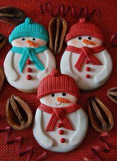 Snowmen cookies!