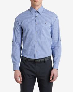 7cdc79039 Checked cotton shirt - Blue