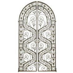 Pair Of Spectacular  Wrought Iron Arts & Crafts Gates
